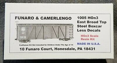 Funaro F&C 1005 HOn3  EAST BROAD TOP  Old Time EBT Steel Boxcar 3' Narrow Gauge