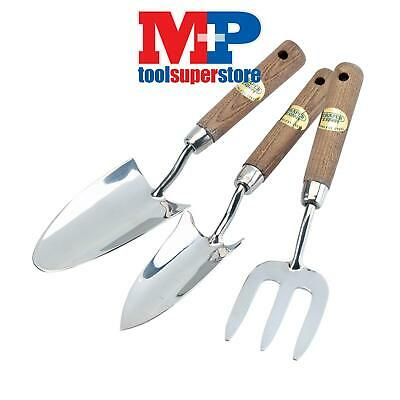 Draper 09565 Stainless Steel Hand Fork and Trowels Set with FSC Certified Ash Ha