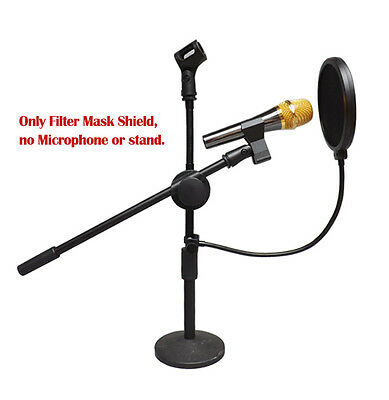Dual Layer Record Studio Microphone Mic Windscreen Pop Filter Mask Shield DOUBLE