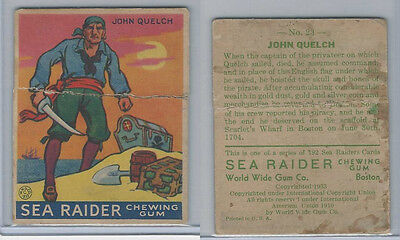 R124 World Wide Gum, Sea Raiders, 1933, #23 John Quelch
