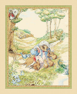 Tiggy Winkle Beatrix Potter for Quilting Treasures Quilt Panel Fabric 100% Cotto