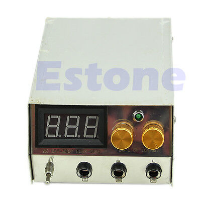 Stainless Steel Professional LCD Dual Digital Tattoo Machine Power Supply