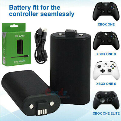 FOR Microsoft XBOX ONE X S / Eliet Play USB Charge Battery Kit Rechargeable 1400