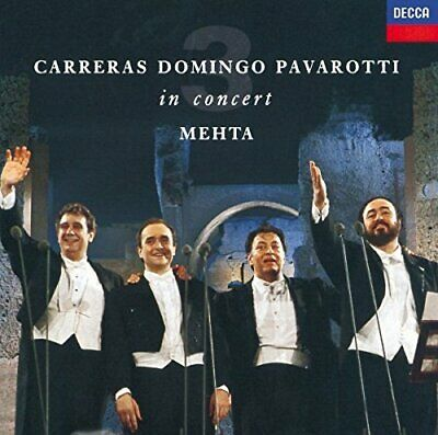 The Three Tenors Carreras Domingo Pavarotti in Concert (NEW CD)