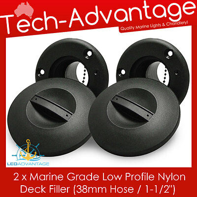 "2 X Boat Nylon Deck Filler Replacements For Petrol/fuel/water 38Mm / 1-1/2"" Hose"