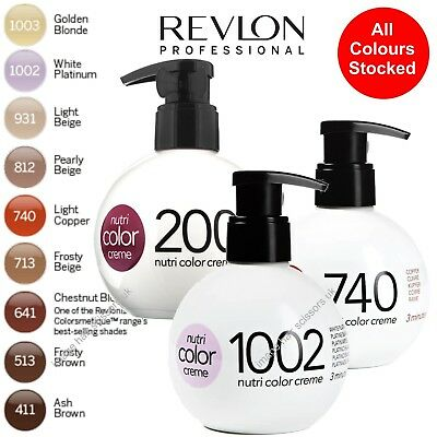 Revlon Nutri Hair Color Conditioner Creme ALL COLOURS STOCKED 250ml Ball Bottle
