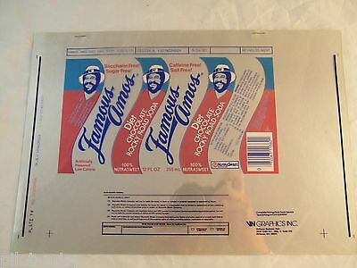Reynolds Metals Co Famous Amos Art Approval Sheet  4 Color Offset 1985