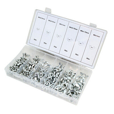 150pc Wing Nut Fasteners Hardware Shop garage Assortment 6 Different Sizes SAE