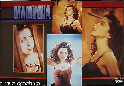 "MADONNA ""LIKE A PRAYER - PEPSI COLA"" POSTER FROM ASIA- Four Shots From The Video"