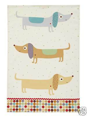 Ulster Weavers Hot Dogs Dog Dachshund Tea Towel Cotton 022HOT