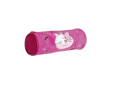 10 x Job Lot Girls Pink Fur Cat Pencil Cases Party Bag Gifts PC-1108 By Katz
