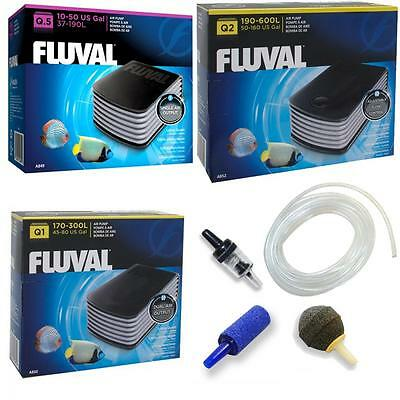 Fluval Air Pump - Aquarium Fish Tank Quiet Powerful Pumps Q.5 Q1 Q2  600L Tanks