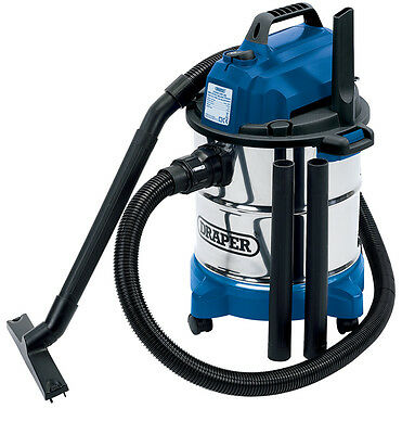 Draper 13785 20L 1250W 230V Wet and Dry Vacuum Cleaner with Stainless Steel Tank