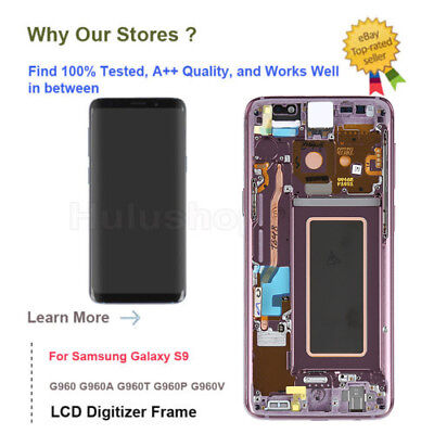 Lilac Purple LCD Touch Digitizer Assembly Replacement + Frame Samsung Galaxy S9