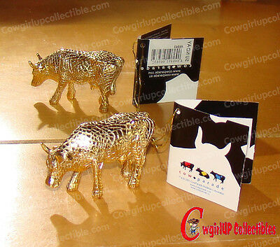 46563 - MIRA MOO GOLD Mini Moo (CowParade) San Antonio, 2002 (Retired)