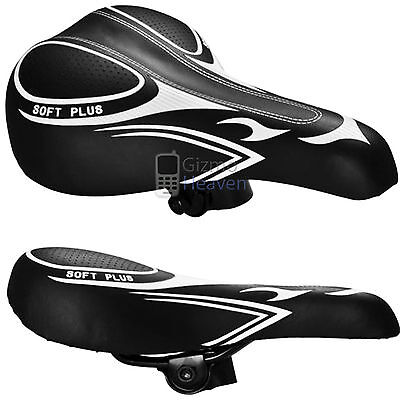 Black Bicycle Bike Cycle Mtb Saddle Mountain Road Sporty Soft Plus Padded Seat