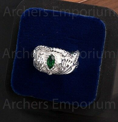 Barahir, The Ring of Aragorn, Strider, Sterling Silver. LotR, Hobbit. Weta. New