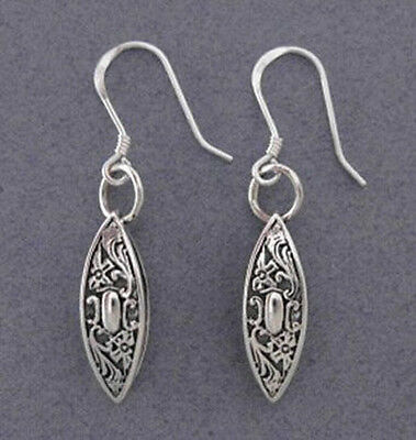 Sterling Silver TATTING SHUTTLE EARRINGS Antique Sewing