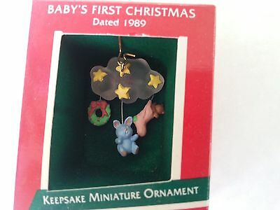 "Hallmark Miniature 1989   ""BABY'S FIRST CHRISTMAS""         **NEW**"
