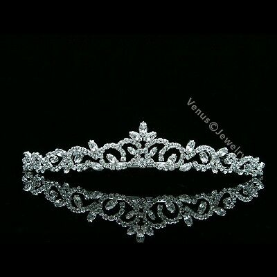 Bridal Princess Rhinestones Crystal Flower Wedding Tiara Crown 7463