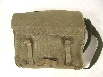 post-WWII British P44 Small Greem Canvas Pack w/Shoulder Strap - Dated 1950's