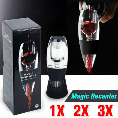 3x SPECIAL Magic Decanter Red Wine Aerator & Sediment Filter