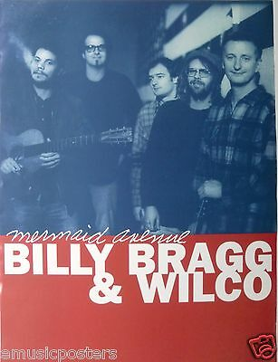 "BILLY BRAGG & WILCO ""MERMAID AVENUE"" U.S. PROMO POSTER - Chicago & U.K. Alt Rock"