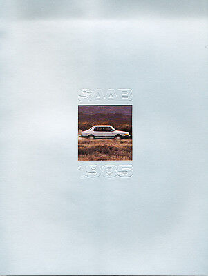 1985 Saab 900 Turbo Sales Brochure Book Catalog