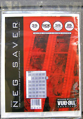Vue-All Archival 35mm Negative Saver 7 Strips of 5 Negs (25 Pages)