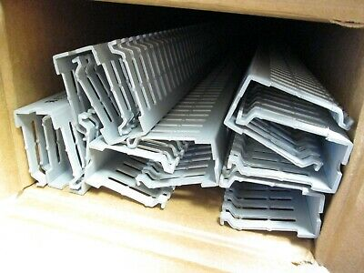 "Lot of 9 New HellermannTyton K1X2G Wire Duct 1"" x 2"" x 72"" *No Covers*"