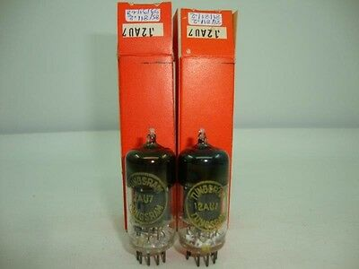 2 X 12AU7 TUNGSRAM FRENCH. NOS/NIB TUBES. SQUARE GETTER MATCHED PAIR CRYOTREATED