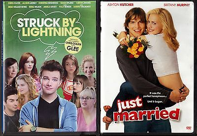 Struck By Lightning (DVD, 2013) & Just Married (DVD, 2009, Wedding Faceplate)