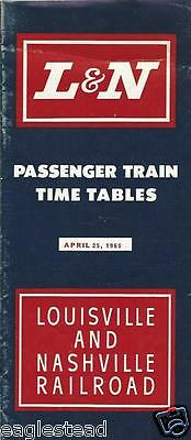Railroad Timetable - L&N - Louisville and Nashville - 25/04/65