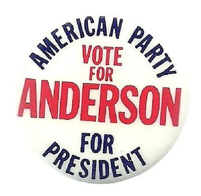 Tom Anderson For President American Party Political Campaign Pin
