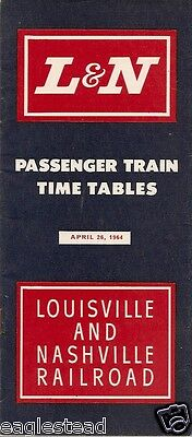 Railroad Timetable - L&N - Louisville and Nashville - 26/04/64