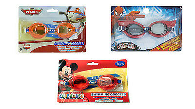 Boys Kids Disney Mickey Mouse Planes Spiderman Swimming Glasses Goggles Age 3+
