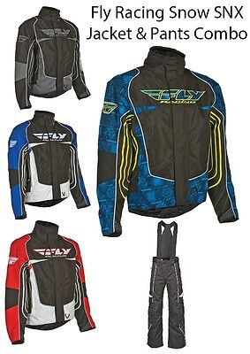 Fly Racing SNX Snow Jacket & Pants Combo- Many colors and Sizes- NEW!