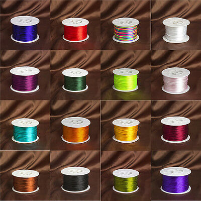Quality Rattail Satin Cord 1mm Suitable For Kumihimo And Macrame 1Roll/92Meters