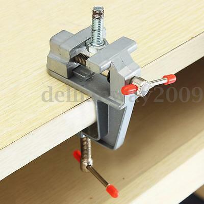 35mm Aluminum MiniAture Small Jewelers Hobby Clamp On Table Bench Vise Tool Vice