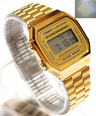 CASIO A168WG-9 Digital Watch Retro 80s Vintage A168WGA 100% Original + (Gift)