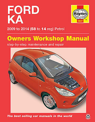 Haynes Workshop Repair Manual Ford Ka Petrol 2008 - 2014