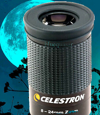 "Celestron 8-24mm Zoom FULLY Multicoated WIDE ANGLE Eyepiece (1.25"") # 93230"