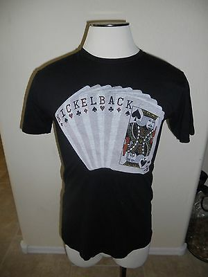 Nickelback Here And Now 2012 Cards Mens Medium Trunk Black Concert Tour T Shirt