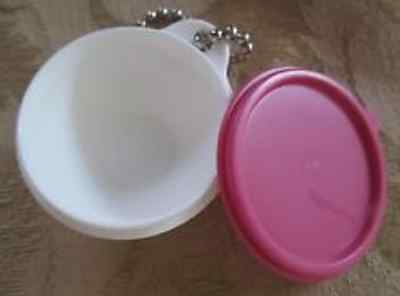 Tupperware Key Chain Pink Thatsa Bowl Keychain Store Lunch Money Rare New
