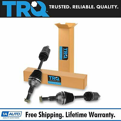 TRQ New CV Joint Axle Shaft Assembly Front Pair Set for Lucerne DTS Aurora SRX