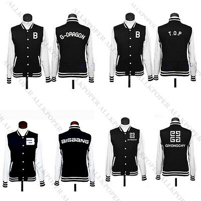 KPOP Baseball Uniform BB SJ SNSD Girls' Generation Lee Minho Jacket/Coat