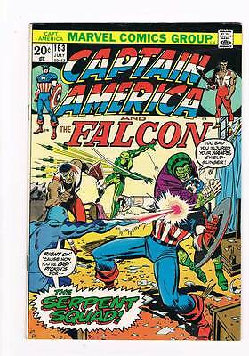 Captain America # 163 The Serpent Squad grade 8.0 movie super scarce hot book !!
