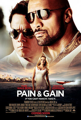 Pain and Gain - original DS movie poster - D/S 27x40 INTL Rock, Wahlberg