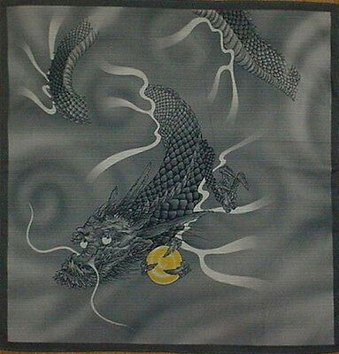 Furoshiki Wrapping Cloth Japanese Dragon Fabric Asian Cotton 50cm