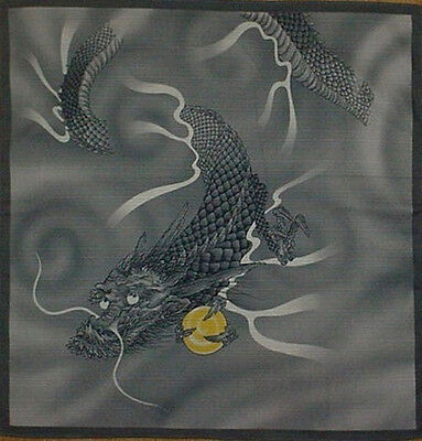 Furoshiki Wrapping Cloth Japanese Dragon Fabric Asian Quilting Cotton 50cm